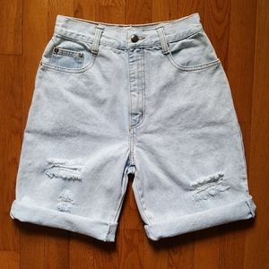 Vintage 80's Super High Waist Jeans Shorts Denim